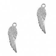 Charms TQ metal angel wing Matt Antique Silver