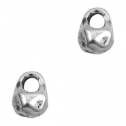 Charms TQ metal uneven shape Antique Silver