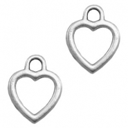 Charms TQ metal heart Antique Silver