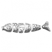 Beads TQ metal fish in pieces Antique Silver