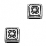 Findings TQ metal slider square Ø6x2.6mm Antique Silver