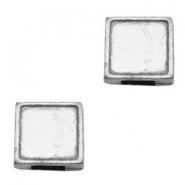 Findings TQ metal slider square Ø5.7x2.4mm Antique Silver