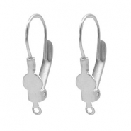 Findings TQ metal lockable ear hook with loop Light Silver