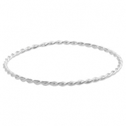 Findings TQ metal bangle bracelet Light Silver