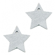 DQ leather charms star Light Grey