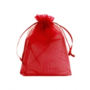 Jewellery Organza Bag 9x12cm Jester Red