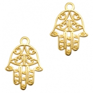 DQ metal charms Hamsa hand Gold (nickel free)