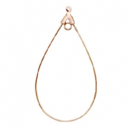 DQ Metal findings dropshaped charm with 2 loops Rose Gold (nickel free)
