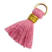Tassels Ibiza style 1.8cm Gold-Antique Pink