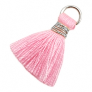 Tassels Ibiza style 1.8cm Silver-Pink