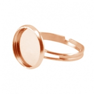 Rings metal for cabochon 12mm Rose Gold
