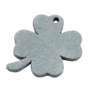 DQ leather charms clover large Grey