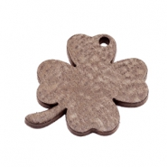 DQ leather charms clover medium Chocolate Brown
