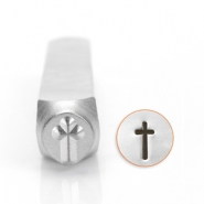 ImpressArt design stamps cross 6mm Silver