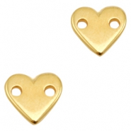 DQ metal charms connector heart Gold (Nickel Free)