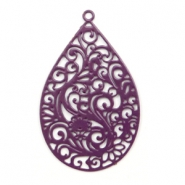 Bohemian charms drop shaped Aubergine Purple