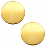 DQ European metal cabochons round 12mm Gold (Nickel free)