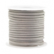 Trendy flat cord silk style 2mm Grey