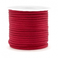 Trendy flat cord silk style 2mm Red