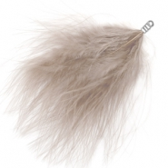 Feathers plush Taupe Grey