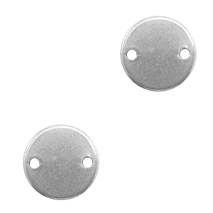 Stainless steel charms connector 12mm Silver