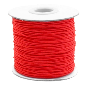 Coloured elastic cord 1mm Red