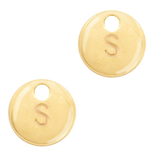 Metal charms initial S Gold (nickel free)