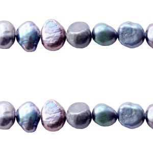 Freshwater pearls nugget 6-7mm Peacock Blue