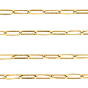 DQ European metal findings belcher chain rectangle Gold
