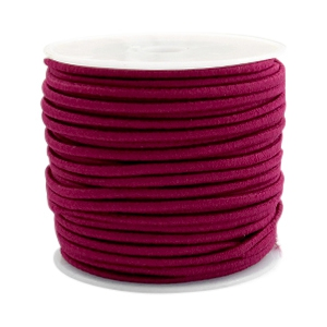 Coloured elastic cord 2.5mm Aubergine red