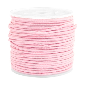 Coloured elastic cord 1.5mm Light rose