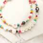 This is how you make the cutest necklaces with different beads and materials: