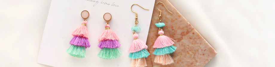 Tassels for jewellery and accessories