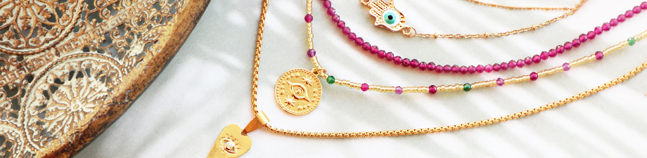 New: charms and connectors with symbolic eye